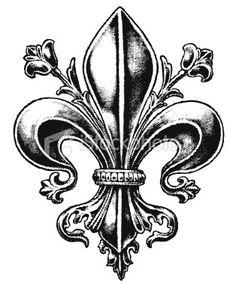 fleur de lis tattoes | ... 2011/01/Fleur-De-Lis-Tattoo-Design-for-Back-520x390.jpg | We Heart It