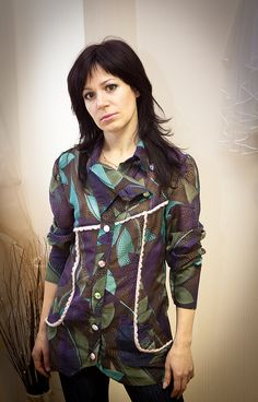 Asymmetric shirt by OlgaKina on Etsy