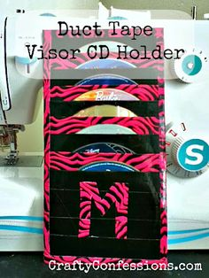 Crafty Confessions: Duct Tape Visor CD Holder