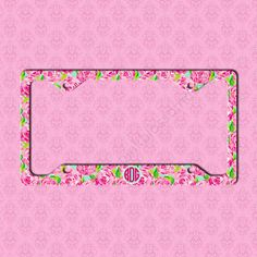 custom license plate monogram lilly pulitzer inspired car tag frame personalized car tag monogram license plate frame