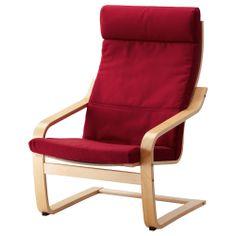 POÄNG Chair - Granån blue, black-brown - IKEA