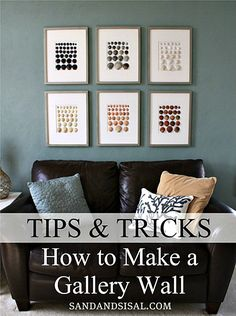 How to Make a Gallery Wall. I like this idea with the shells. Got plenty of those around.