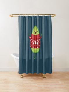 ' Shower Curtain by daisy-beatrice Christmas Carol, Christmas Sweaters, Christmas Shower Curtains, Buttonholes, Sell Your Art, Avocado, Daisy, December, Christmas Decorations