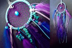 Dreamcatcher, bohemian dreamcatchers, dreamcatcher necklace, feather dreamcatcher