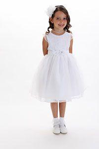 Flower Girl Dresses - Flower Girl Dress Style 179 - Embroidered Tulle Dress
