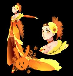 Songstress of Yellow Roses - Design by rika-dono on DeviantArt Pretty And Cute, Yellow Roses, Fashion Sketches, Manga Art, Costume Design, Tinkerbell, Fashion Art, Fairy Tales, Art Pieces