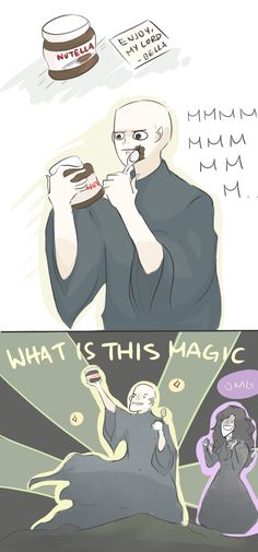 Not even the Dark Lord could turn down Nutella!! HP: NEW BFF by Randomsplashes.deviantart.com on @deviantART