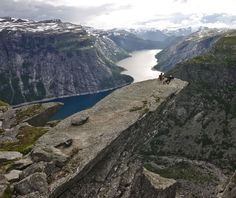 The Norwegian word for this place is Trolltunga which means Troll's Tongue. -  Photo  by TerjeN