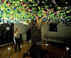 holographic sculpture with lights - Google Search
