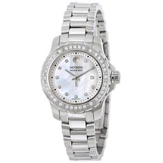 Movado Series 800 White Mother Of Pearl Dial Ladies Diamond Watch 2600120 - 800 - Movado - Watches - Jomashop