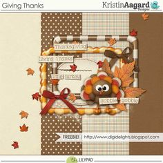 PUS4HS4O fall  autumn digiscrap kit Thanksgiving Scrapbook Kit Digital scrap kit with a Thanksgiving Dinner theme