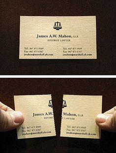 Pretty cool! makes me want to be a divorce lawyer! #divorce #creative #business