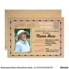 Invitation - Post Office Retirement Party. They Wanted Me To
