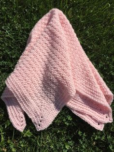 Skein and Hook: Free Crochet Pattern: The Littlest Princess (or Prince) Baby Blanket
