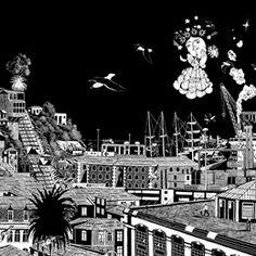 Loro Coiron - MNBA - Cartelera de Sucesos Barrio Lastarria | Portal de Información Turística y Cultural Portal, Building, Travel, Ideas, Murals, Paintings, Parrot, Santiago, Fine Art