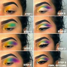 best for teens – Augen Make Up Makeup Eye Looks, Eye Makeup Steps, Skin Makeup, Beauty Makeup, Creative Eye Makeup, Colorful Eye Makeup, Colorful Eyeshadow, Makeup Inspo, Makeup Inspiration