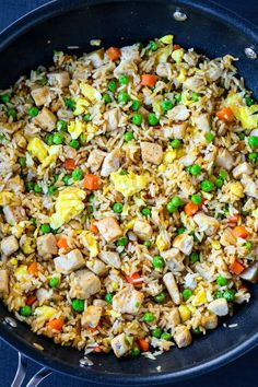 This easy Chicken Fried Rice recipe is much better for you than ordering take out, and tastier too! #chickenfriedrice #friedrice #easydinner Chicken Fried Rice Recipe Easy, Easy Chicken Recipes, Rice Recipes, Fried Chicken, Easy Dinner Recipes, Asian Chicken, Chicken Meals, Chinese Vegetables, Cooking