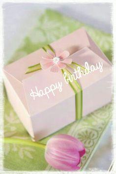 Happy Birthday - pink flower gift