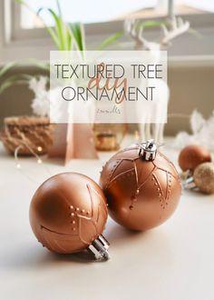 DIY Mandala Textured Tree Ornament by Isoscella Christmas Tree Decorations, Christmas Tree Ornaments, Christmas Crafts, Diy Ornaments, Copper Spray Paint, Paper Tree, Diy Paper, Mandala, Easy Diy