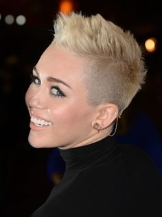 """The young star's spiky crop with frosted tips was shocking at first, but it turns out she's a trendsetter. """"The two-face hairstyle is becoming more of a statement look mostly worn by hipsters,"""" says Perez. """"Back in the day, Salt-n-Pepa made this style trendy."""" Today, fashion-forward women are pushing the look even farther. - Redbook.com"""