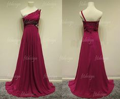 purple prom dress long prom dress chiffon prom dress by fitdesign, $128.00