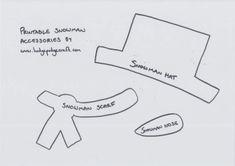 Free-printable-snowman-craft-accessories-template.jpeg 1,160×820 pixels