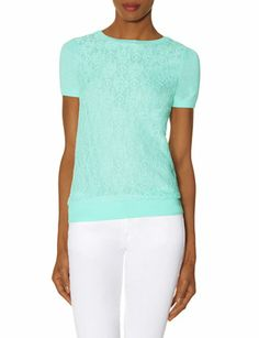 Lace Front Sweater Tee from THELIMITED.com