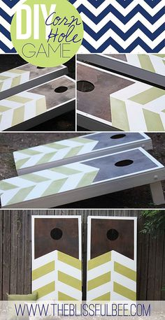 Chevron Stripe Corn Hole Boards | Creative Corn Hole Boards To Inspire Your Next Backyard Game Night