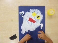 2歳児 8月 製作「おばけ」 | 蓮美幼児学園千里丘キンダースクールブログ