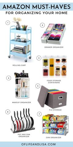 Keep your home neat, tidy and organized with these amazing Amazon finds. #amazon #finds #home #homedecor #organization #declutter #house #organized #organizing #homeoffice #makeup #kitchenideas