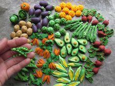 fondant vegetables | Fondant Cupcake Toppers ... Credit: Sachiko Windbiel (Click to Support ...
