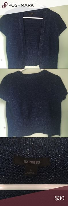 NWOT Navy Blue Cardigan New without tags. Perfect to go with any dress. Express Tops