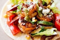 Shrimp Fajitas With Peppers and Zucchini