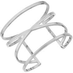 Vince Camuto Double V Cuff Bracelet ($48) ❤ liked on Polyvore featuring jewelry, bracelets, accessories, silver, silver bangles, silver bracelet jewelry, cuff bangle bracelet, silver bracelet en cuff jewelry