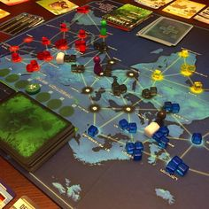 Such an intense game of Pandemic last night! We were right of the cusp of loosing from outbreaks running out of cubes AND our draw deck running low. We managed a victory on the very last turn! This is why I love this game so much! It gets so intense! by never.bored.gaming