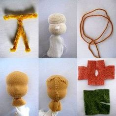 Anleitungsschritte zum Puppen Wurzelwichtel basteln