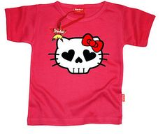 Baby Goth/Emo/Punk T-Shirt Designer Hell(o) Kitty Funky Cotton 0-24 Months