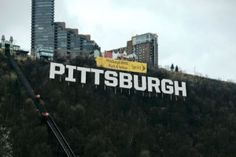 Proposal Would Put Hollywood-Style Pittsburgh Sign On Mt. Pittsburgh Skyline, Pittsburgh Steelers, Best Places To Live, Places To Visit, Hollywood Sign, Hollywood Style, Northern Virginia, My Town, Best Cities