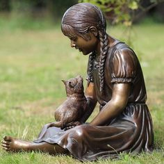 Girl with Her Cat ..