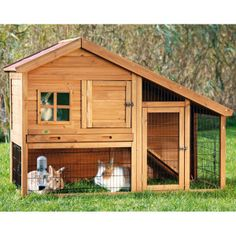 Trixie Rabbit Hutch with a View | Hutches | PetSmart It's for rabbits, but who said a teacup yorkie or other small dog cant use it??? :D