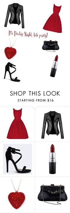 """Friday Night!"" by princess-accitia on Polyvore featuring Qupid, MAC Cosmetics, Whiting & Davis, women's clothing, women's fashion, women, female, woman, misses and juniors"