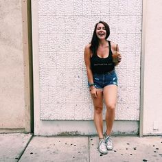 We love how @mrsbrittanylouu wears our 'do it for the story' tank! Share how you wear your #basicsnyc to be featured.