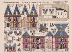 paper toys - maison de provence by sonobugiardo, via Flickr