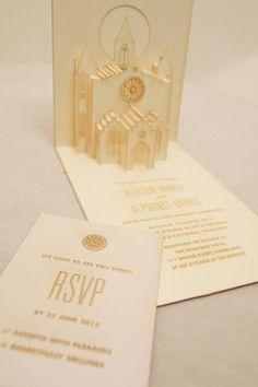 Pop-Up Wedding Invitations   Melbourne Laser Cutter