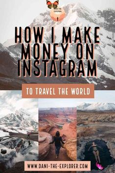 How Much To Charge For A Sponsored Instagram Post & Other Content How I Get Paid On Instagram And How I Got Started - Dani The Explorer | Ready to travel the world this year? Instagram isn't just for travel photography inspiration, it's a great way to make money for travel too! In this blog, I share how I make money on<br> Not sure how much to charge for sponsored Instagram posts? Read this pricing guide written by an influencer already doing it. Travel Photography Inspiration, Photography Tips, Travel Inspiration, Adventure Time, Adventure Travel, Adventure Tattoo, Photo Instagram, Instagram Tips, Instagram Posts