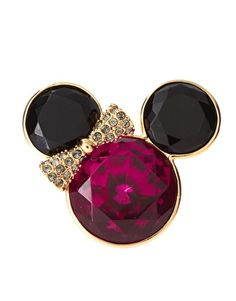 Disney Couture Mawi Presents Minnie Ring With Pink Crystal $89.85