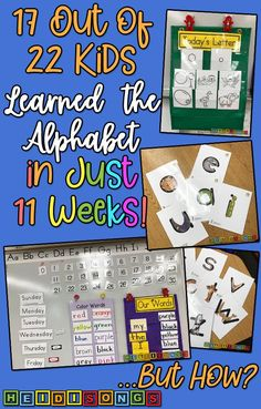 17 Out of 22 Kids Learned the Alphabet in Just 11 Weeks. 17 Out of 22 Kids Learned the Letters and Sounds in [. Preschool Learning Activities, Kindergarten Literacy, Alphabet Activities, Preschool Classroom, Teaching The Alphabet, Learning Letters, Teaching Kids, Kids Learning, Zoo Phonics