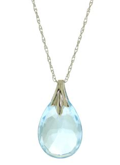 4f774712092a18 3 Carat Sterling Silver Necklace Briolette Blue Topaz