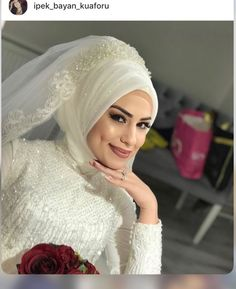 You will find different rumors about the history of the marriage dress; Muslim Wedding Gown, Wedding Hijab, Red Wedding Dresses, Wedding Poses, Wedding Bridesmaids, Wedding Ideas, Bridal Hijab Styles, Twiggy, Marriage Dress