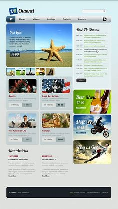 Template 42670 - Q5 Chanel Flash CMS Template